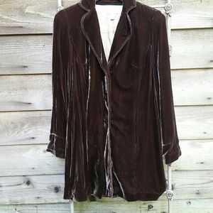 Coldwater Creek Velvet car coat